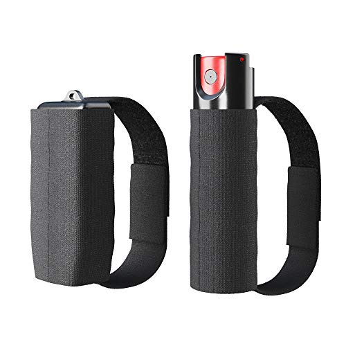 Runners Pepper Spray and Personal Alarm Key Chain Bundle with a Strap (2 Pack) for Protection and Self Defense, Safeguard for Women and Men, Tear Gas and Panic Button