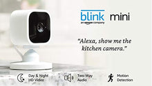 Blink Mini – Compact indoor plug-in smart security camera, 1080 HD video, motion detection, night vision, Works with Alexa – 2 cameras