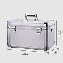 CHOUCHOU Flower Stand Household Medical Box, 2 Layer Health First Aid Case, Metal Emergency Kit Storage Box, Lock First Aid Kit (Color : Silver),Colour:Silver (Color : Silver)