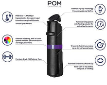 POM Pepper Spray Flip Top Pocket Clip - Maximum Strength OC Spray for Self Defense - Tactical Compact & Safe Design - 25 Bursts & 10 ft Range - Powerful & Accurate Stream Pattern