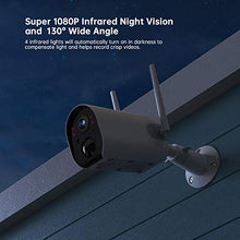Outdoor Wireless Home Security Camera, Rechargeable 15000mAh Battery Solar Panel Powered WiFi Surveillance IP65 Waterproof Camera 1080P FHD Night Vision Motion Detection 2-Way Audio