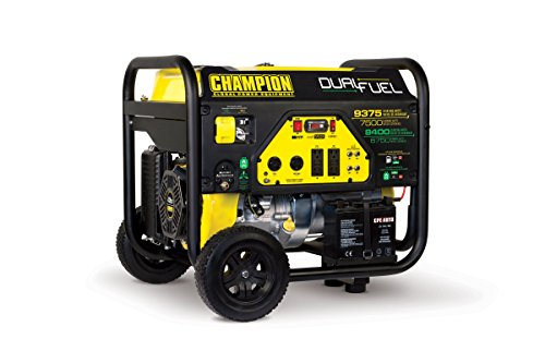 Champion Power Equipment 100165 9375/7500-Watt Dual Fuel Portable Generator with Electric Start