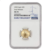 2020 1/10 oz Gold American Eagle MS-70 NGC (Early Releases) by CoinFolio $5 MS70 NGC