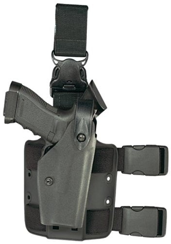 Safariland 6005 Black Taser X26 SLS Hood Quick Release Leg Harness Tactical Gun Holster, Right Handed