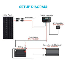 Renogy 12V 100W Monocrystalline Bundle Kit solar panel, Black