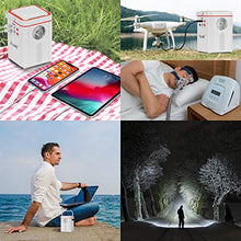 ALLWEI Portable Power Station 135Wh Lithium Backup Battery Pack Power Generator 110V 120W Solar Generator with AC Outlet USB DC Supply for Outdoors Camping Travel Fishing Hunting Emergency (White)