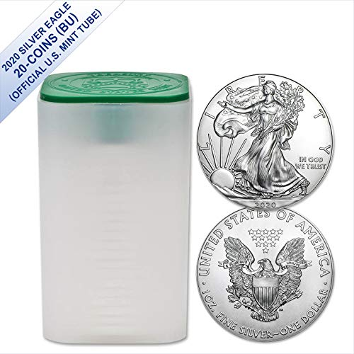 2020 American Silver Eagle - Twenty Coins in (US Mint Tube) Brilliant Uncirculated