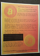 Bitcoin Paper Wallet (Includes 0.01 Bitcoin)
