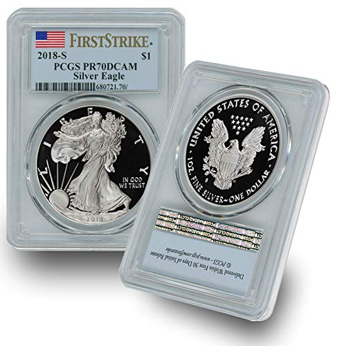 2018 S American Silver Eagle Proof Coin $1 PR70DCAM PCGS First Strike