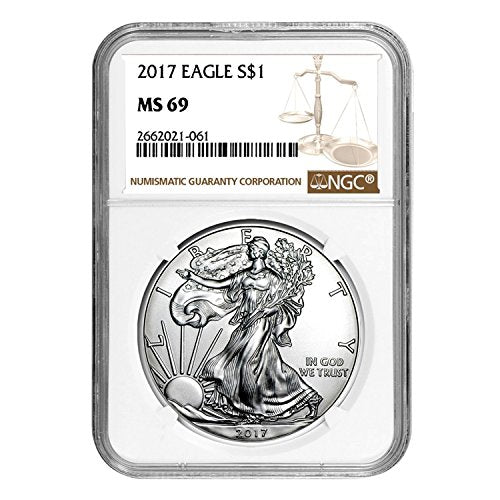 2017 American Silver Eagle $1 MS-69 NGC
