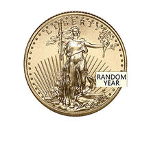 1986 - Present (Random Year) 1/4 oz Gold American Eagle Coin Brilliant Uncirculated with Certificate of Authenticity by CoinFolio $10 BU