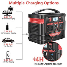 BOSALY Portable Power Station, 296Wh CPAP Charger Lithium Backup Battery Pack 110V 300W Solar Generator Pure Sine Wave AC Outlet USB DC Supply for Outdoors Camping Travel Hunting Emergency