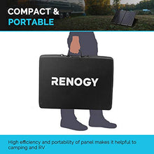 Renogy 100W 12V Monocrystalline Off Grid Portable Foldable 2pcs 50W Solar Panel Suitcase Built-In Kickstand