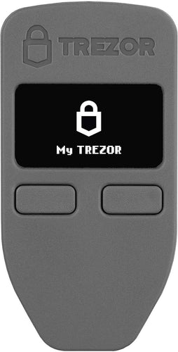 Trezor One - Cryptocurrency Hardware Wallet - The Most Trusted Cold Storage for Bitcoin, Ethereum, ERC20 and Many More (Grey)