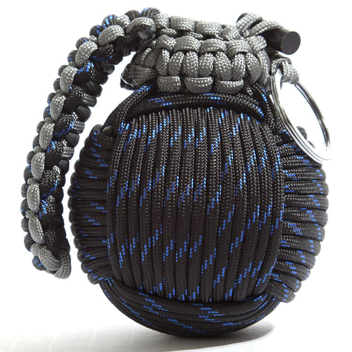 Holtzman's High Tech Survival Kit Paracord Grenade The #1 Best 48 Tool Emergency kit (Blue/Black)