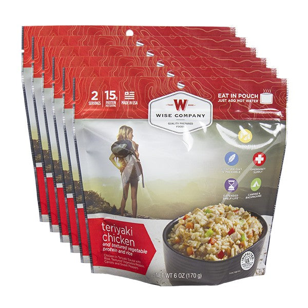 Teriyaki Chicken and Rice Camping Food (Case of 6)