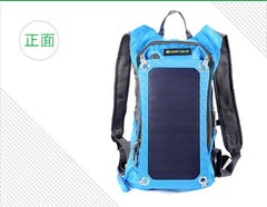 Waterproof Backpack With Solar Charger Panel  and 1.8L Water Bag