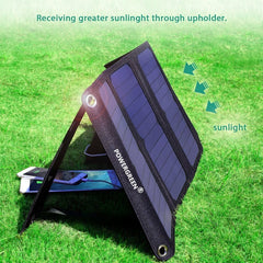 PowerGreen Foldable Battery Backpack Solar Power Bank for Iphone for Samsung for LG