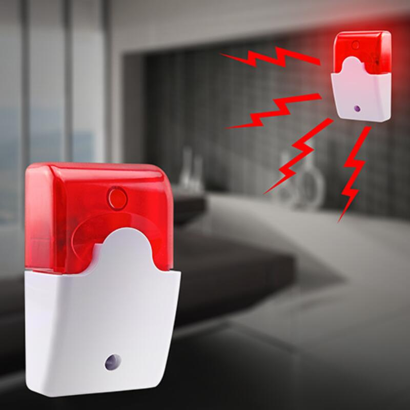 Wired Strobe Siren Durable 12V Sound Alarm Flashing Light Strobe Siren For 99 Zones PSTN/GSM Wireless home security Alarm
