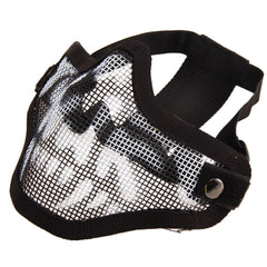 Airsoft Paintball Mesh Half-Face Skull Protecting Mask