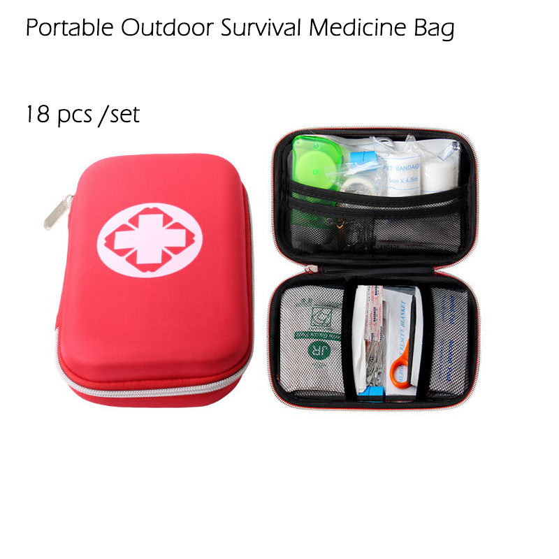 18 Piece Survival Medical Bag Emergency First Aid Kit