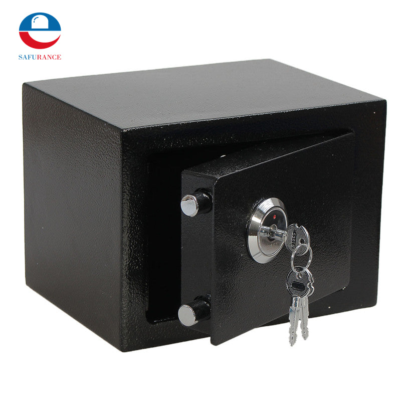Durable Strong Iron Steel Black Key Operated  Security Safe Box for Home Office, House