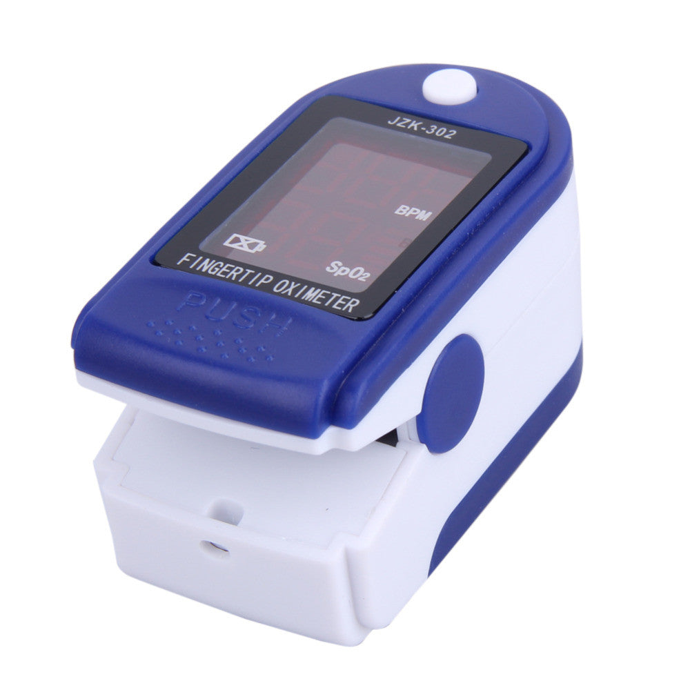 LED Digital Fingertip Pulse Oximeter Blood Oxygen Saturation Tester - Cardiotachometer