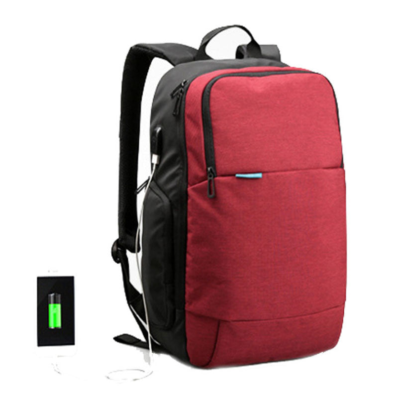 Waterproof Backpack With USB Charger for 15.6