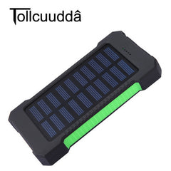 Waterproof Solar Charger Dual USB with LED Light for iPhone 6/Smartphones