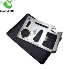 Multi Tools 11 in 1 - Multifunction Outdoor Hunting Survival Pocket Military Credit Card Knife