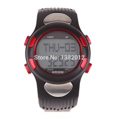 Heart Rate Monitor Wristwatch with Backlight Red ISP