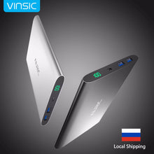 Vinsic Portable External Battery Charger Backup Battery Dual USB LED Display for iPhone