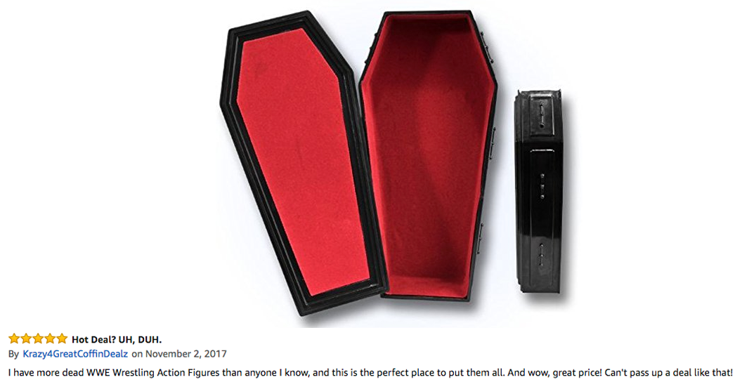 WWE coffin