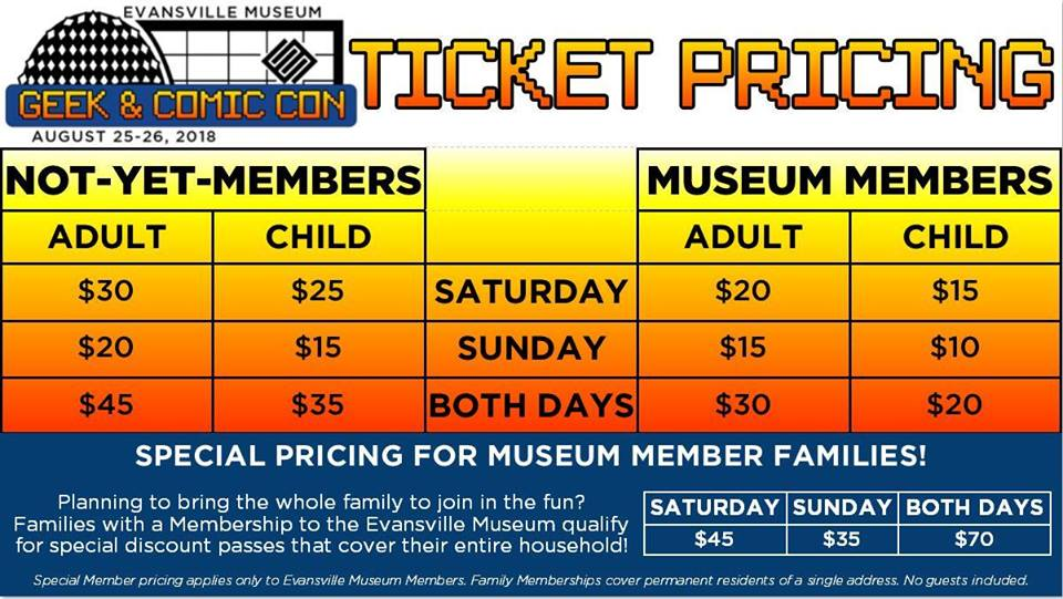 Comic Con Ticket Prices