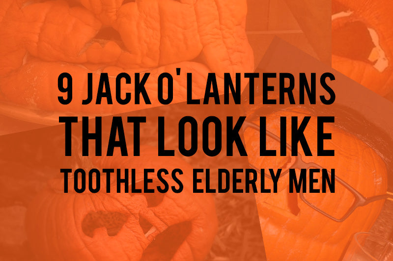 9 Jack O' Lanterns That Look Like Toothless Elderly Men