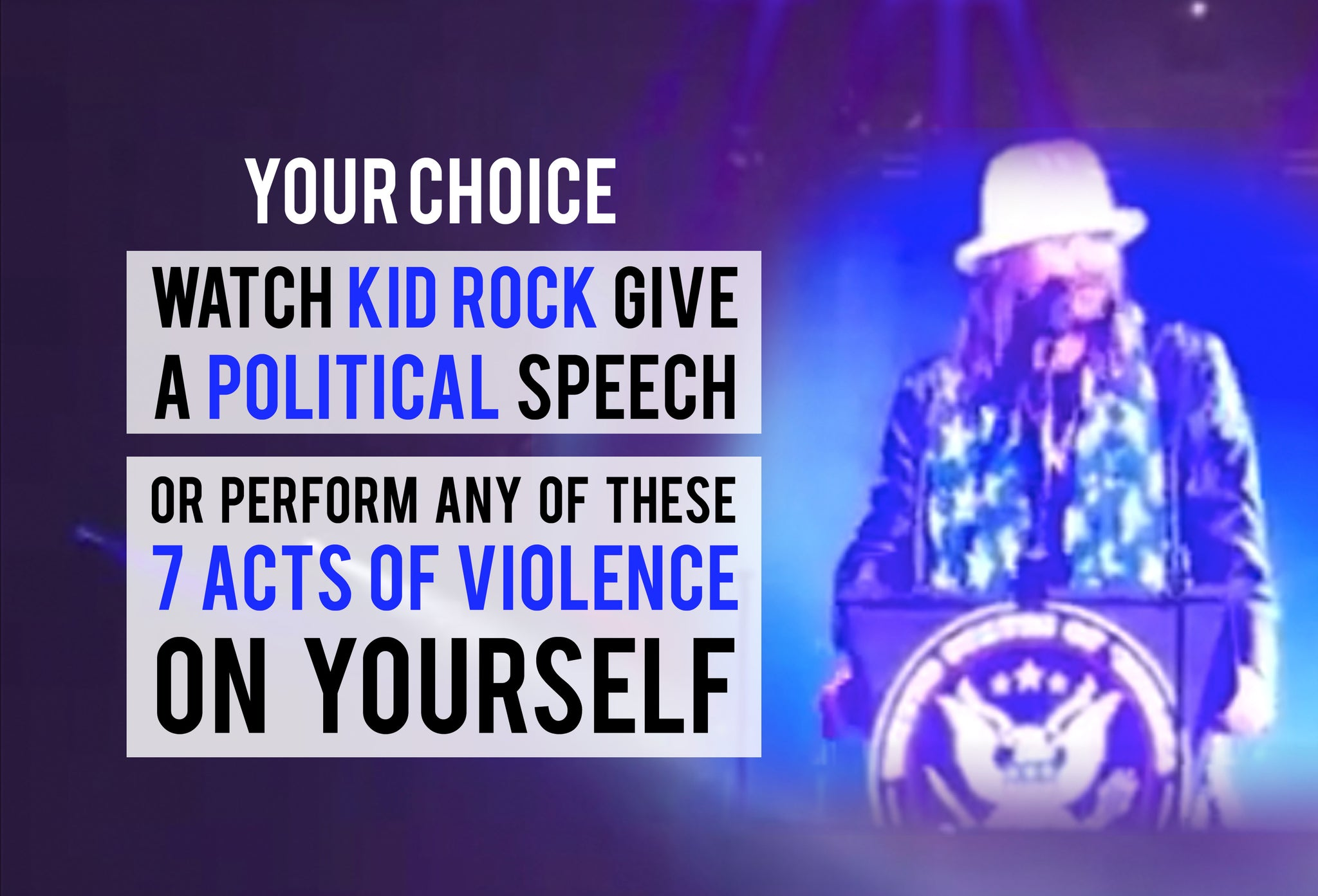 Kid Rock gives a political speech