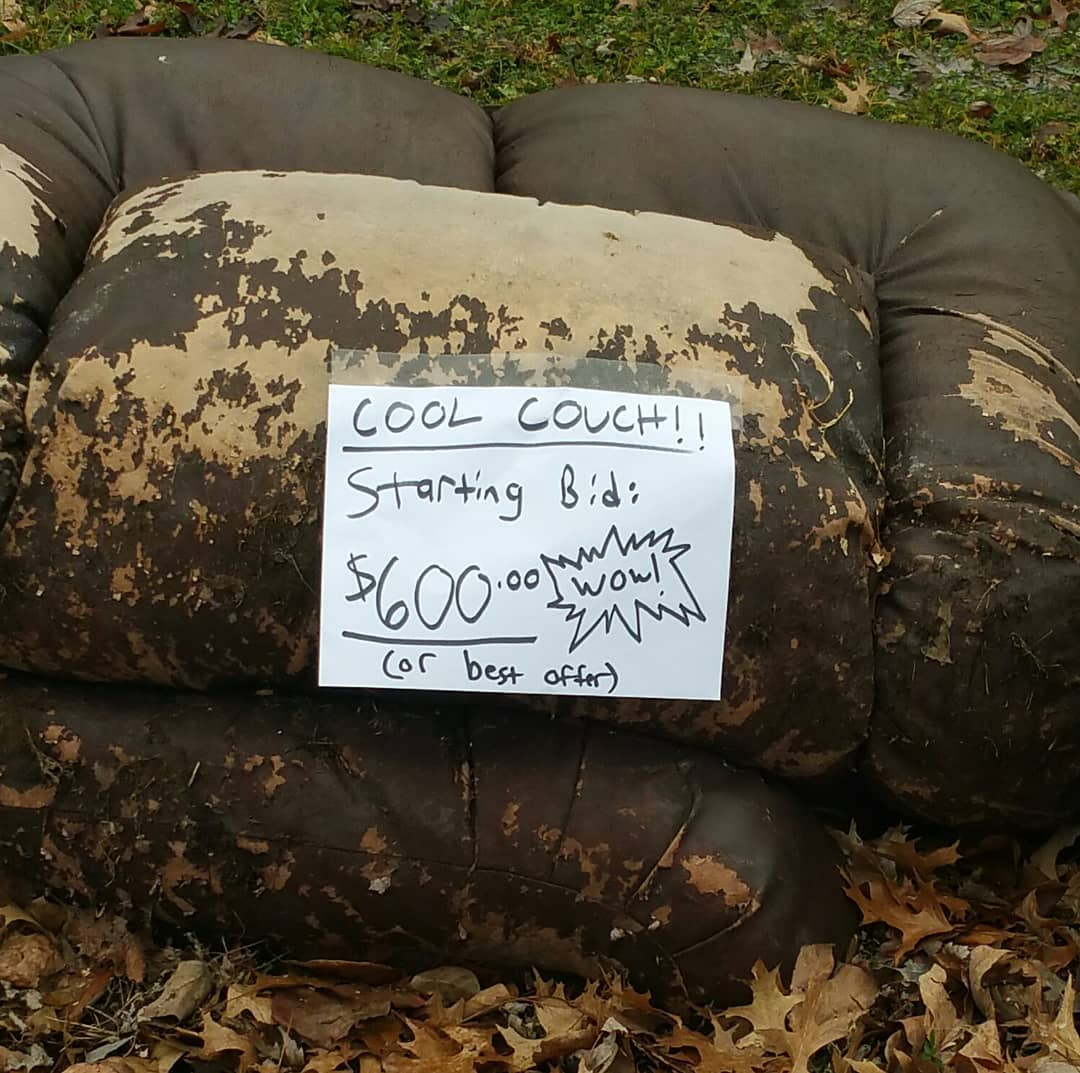 we're trying to help sell our neighbor's couch