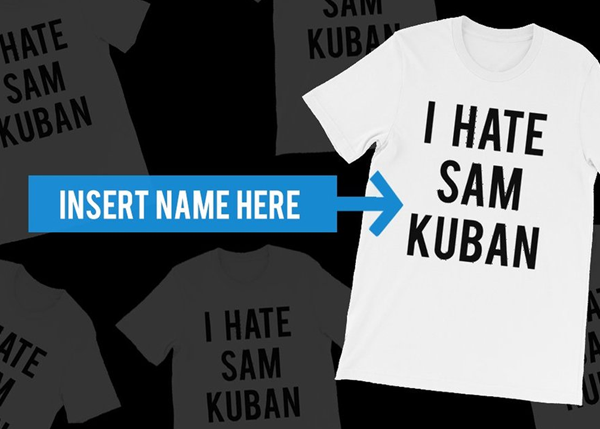 "We'll Document Ourselves Wearing A Shirt That Says ""I Hate (Insert Name Here)"" For A Full Day"