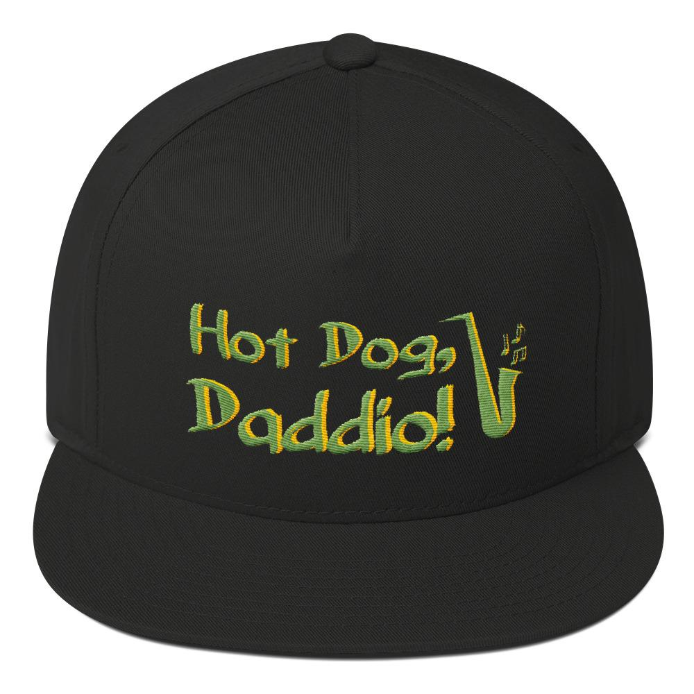 "Flat Bill ""Hot Dog, Daddio!"" Cap"