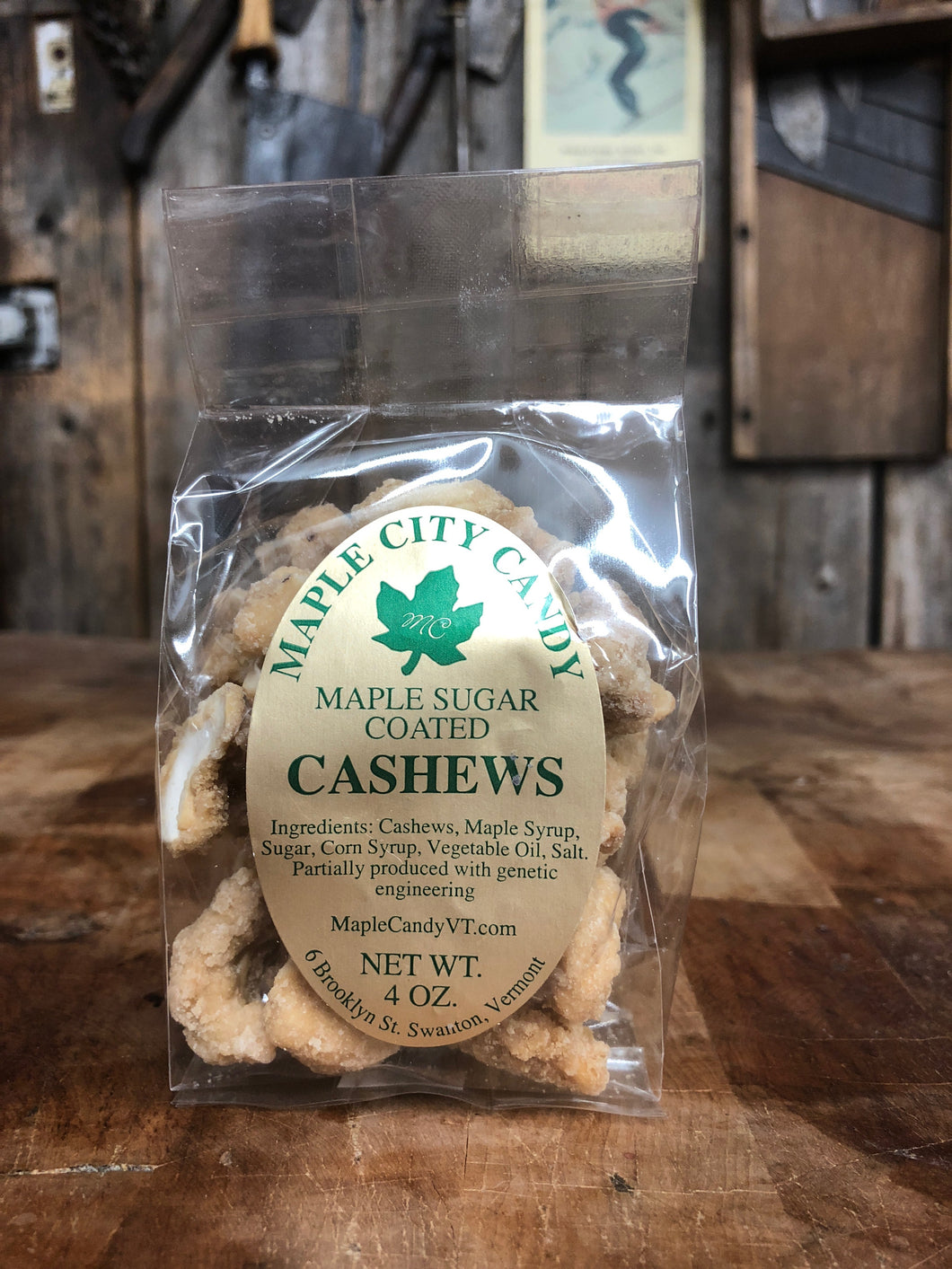 Maple City Candy Maple Sugar Coated Cashews