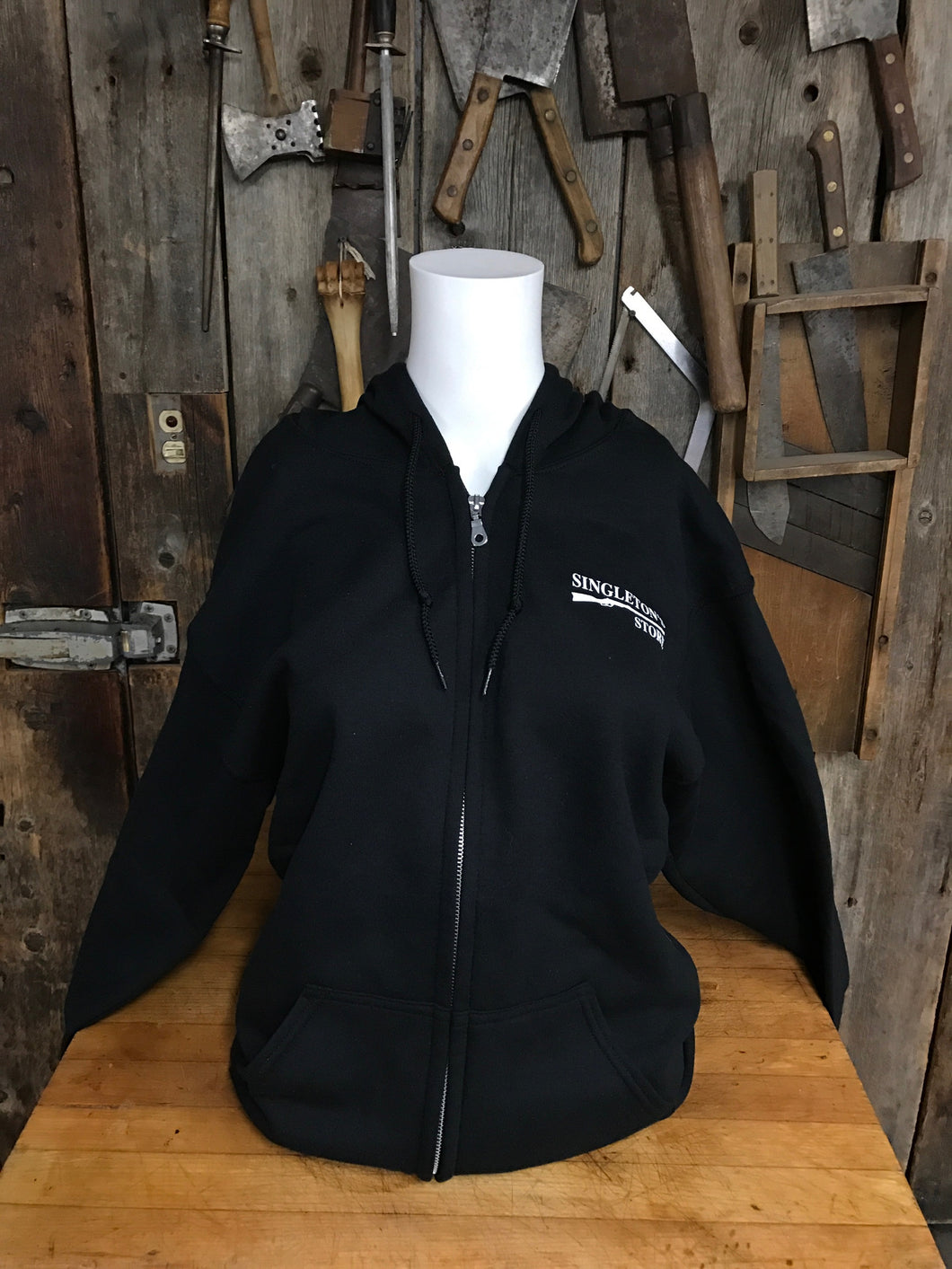 Singleton's General Store Black Zip Up Hoodie