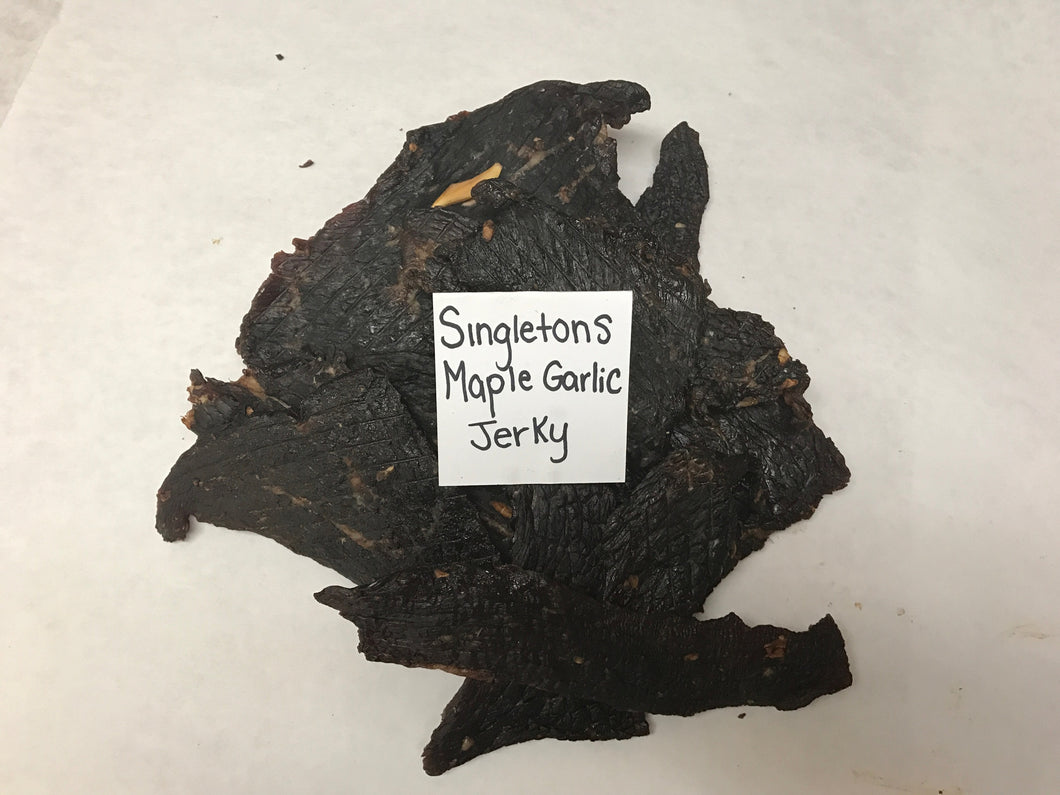 One Pound of Singleton's Maple Garlic Jerky