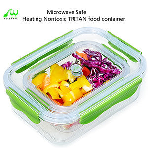 2PC Tritan Food Storage Containers / Leak Proof / Air Tight - Green