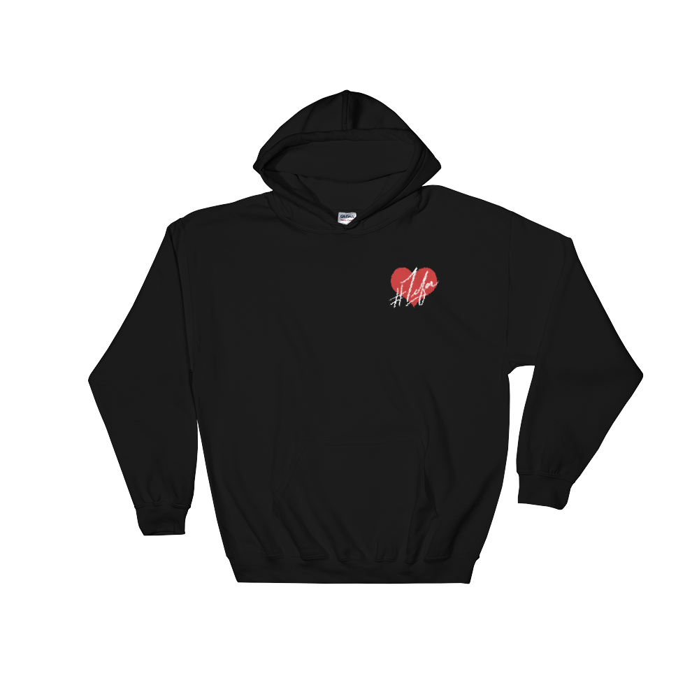 1Lifer Love Embroidered Black Hoodie