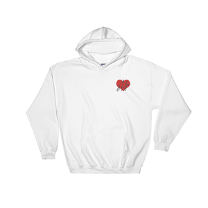 1Lifer Love Embroidered White Hoodie