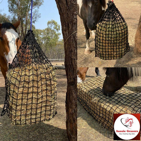 Deluxe Knotless Slow Feed Hay Nets | Aussie Grazers