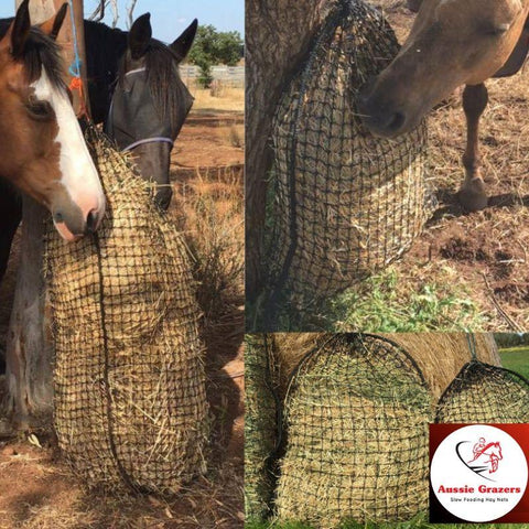 Original Knotted Slow Feed Hay Nets | Aussie Grazers