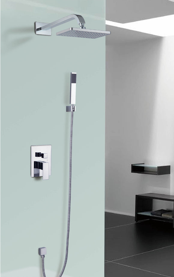 Starbath Bathroom Rainfall Shower Combo Set Wall Mounted Square Shower