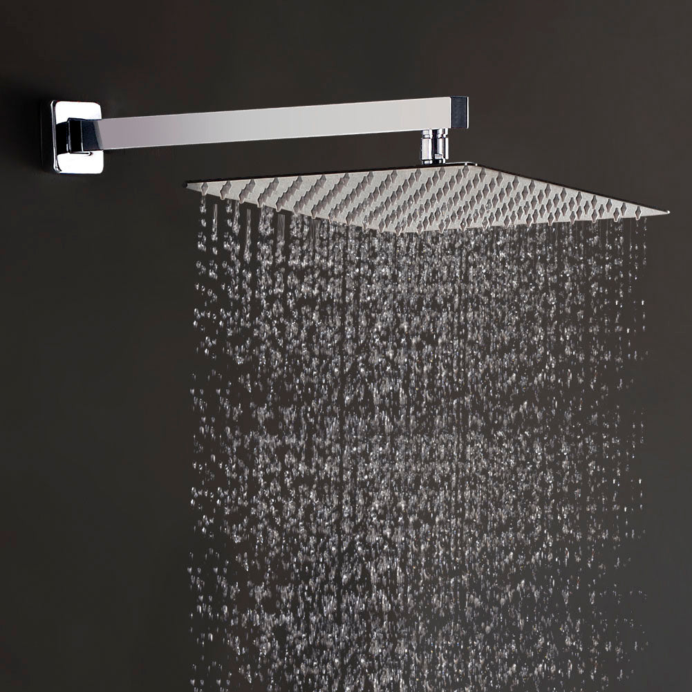... STARBATH 12 Inch Rain Shower Head Square High Pressure Ultra Thin Rainfall  Showerhead Stainless Steel With