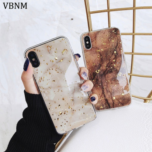 Luxury Gold Foil Bling Marble Phone Cases